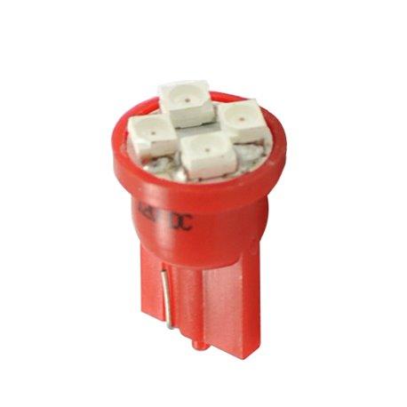 Diodo LED L017 W5W 4xLed rosso