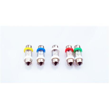Diodo LED L022 C5W 4LED 3mm verde