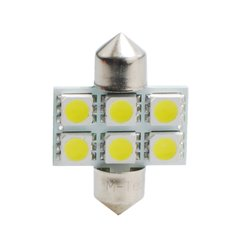 Diodo LED L027 C5W 31mm 6xSMD5050 bianco