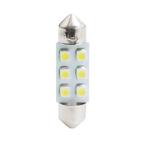 Diodo LED L028 C5W 36mm 6xSMD3528 rosso