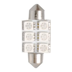 Diodo LED L052 C5W 36mm 6x5050 blu