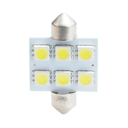 Diodo LED L052 C5W 36mm 6xSMD5050 bianco