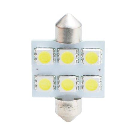 Diodo LED L052 C5W 36mm 6xSMD5050 bianco