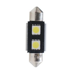 Diodo LED L305 C5W 36mm 2xSMD5050 CANBUS bianco