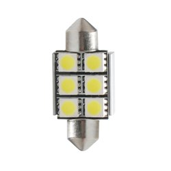 Diodo LED L306 C5W 36mm 6xSMD5050 CANBUS bianco
