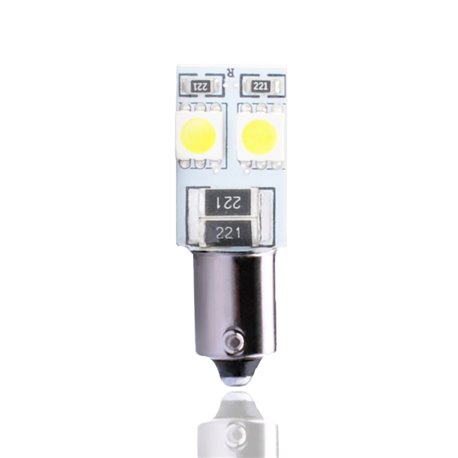 Diodo LED L314 Ba9s 4xSMD5050 CANBUS bianco