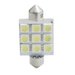 Diodo LED L059 C5W 41mm 9xSMD5050 bianco