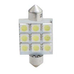 Diodo LED L059 C5W 41mm 9xSMD5050 bianco