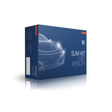 Kit di conversione Bi-Xenon Basic Slim AC H4-3 4300K