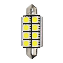 Diodo LED L327 C5W 41mm 8xSMD5050 CANBUS bianco