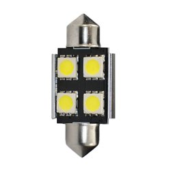 Diodo LED L328 C5W 36mm 4xSMD5050 CANBUS bianco
