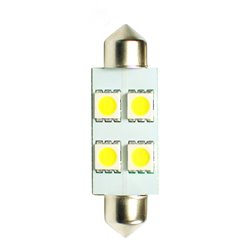 Diodo LED L072 C5W 41mm 4xSMD5050 bianco