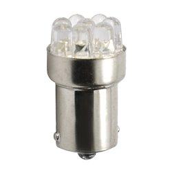 Diodo LED L074 G18 Ba15s 8xLED bianco
