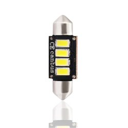 Diodo LED L334 C5W 35mm 4xSMD5730 12V CANBUS bianco