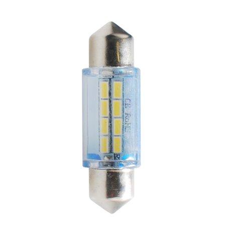 Diodo LED L085 C5W 36mm 8xSMD bianco