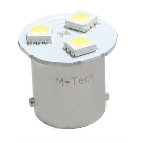 Diodo LED L087 BA15s G18 3xSMD5050 bianco