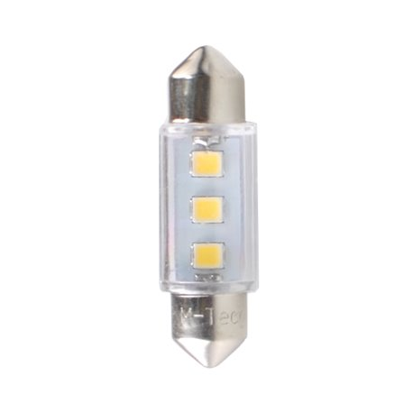 Diodo LED L090 C5W 36mm 3xSMD3528 bianco