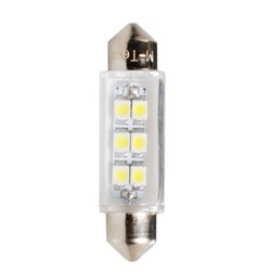 Diodo LED L091 C5W 41mm 6xSMD3528 bianco