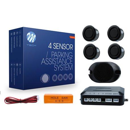 Kit sensori di parcheggio CP17 18mm 4X nero