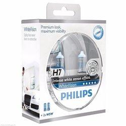 Lampada alogena Philips WHITE VISION 12V H7 + W5W
