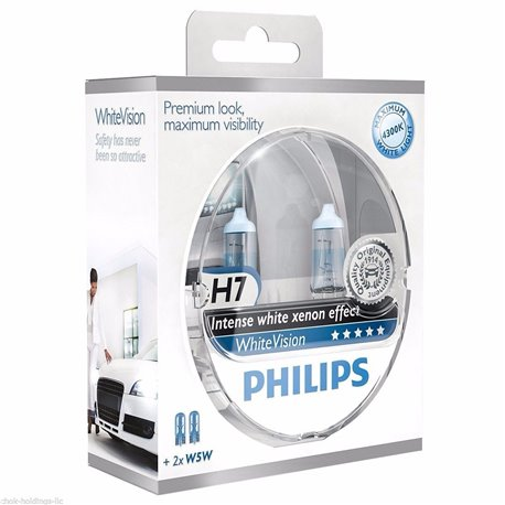 Lampada Alogena Philips White Vision 12v H7 W5w