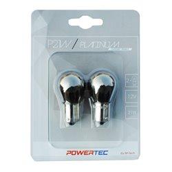 Lampada alogena Powertec P21W S25 12V 21W BA15s Chrome