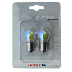 Lampada alogena Powertec PY21W S25 12V 21W BAU15s Arcobaleno
