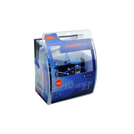 Lampada alogena Powertec Xenon Blue H3 12V DUO
