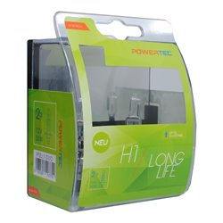 Lampada alogena Powertec Long Life H1 12V DUO