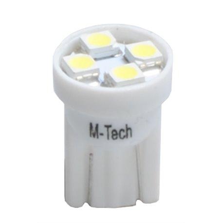 Diodo LED L917 W5W 4xSMD3528 24V bianco
