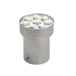Diodo LED L988 BA15s G18 8xSMD3528 rosso