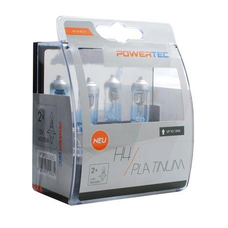 Lampada alogena Powertec Platinum +130% H4 12V DUO