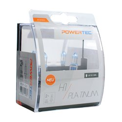 Lampada alogena Powertec Platinum +130% H1 12V DUO
