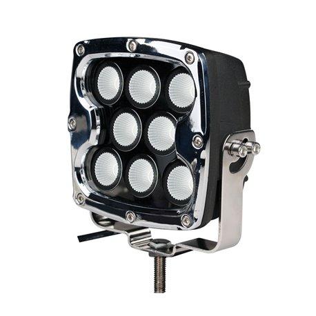 """Fari di profondità LED 80W 7"""" quadrato chrome"""