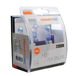 Lampada alogena Powertec Platinum +130% H8 12V DUO