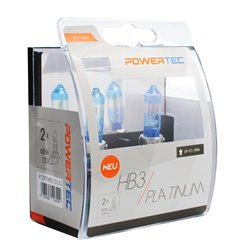 Lampada alogena Powertec Platinum +130% HB3 12V DUO