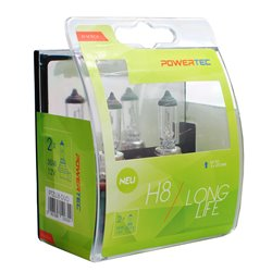 Lampada alogena Powertec Long Life H8 12V DUO