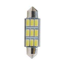 Diodo LED L347W C5W 42mm 9xSMD5630 CANBUS bianco