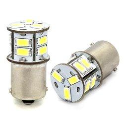 Diodo LED L100 BA15s 13xSMD5630 12V bianco