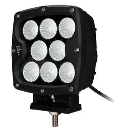 """Fari di profondità LED 80W 7"""" quadrato nero"""
