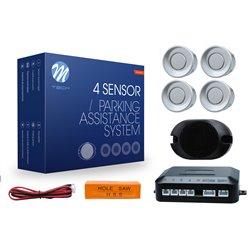 Kit sensori di parcheggio CP17 18mm 4X argento