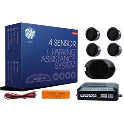 Kit sensori di parcheggio CP14 18mm 4X nero