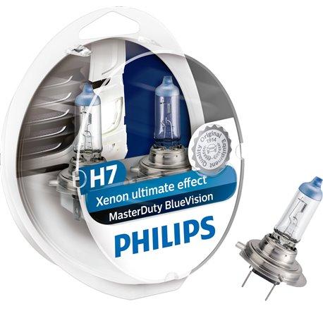 Lampada alogena philips h7 masterduty bluevision px26d 24v 70w for Lampada alogena
