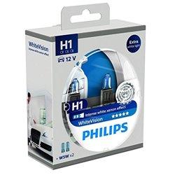 Lampada alogena Philips WHITE VISION 12V H1 + W5W