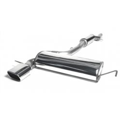 Sistema di scarico in acciaio Inox 1x85x150 per Audi A3 S3 Quattro