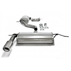 Sistema di scarico in acciaio Inox 1x100 per Volkswagen Golf V / VI / Audi A3 8P