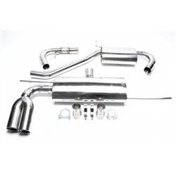 Sistema di scarico in acciaio Inox 2x76 per Volkswagen Golf V / Audi A3 8P