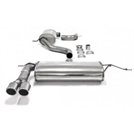 Sistema di scarico in acciaio Inox 2x80 per Audi A3 8P Sportback