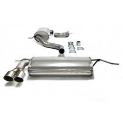 Sistema di scarico in acciaio Inox 2x76 per Volkswagen Golf V-VI / Audi A3 8P