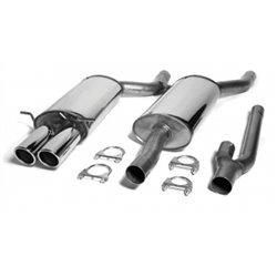 Sistema di scarico in acciaio Inox 2x80 per Audi A4 B5 Quattro Limo./Avant